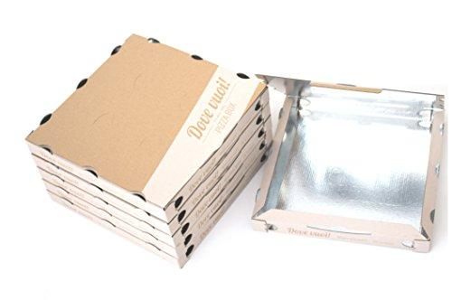 Scatola Pizza in cartone con interno in PET 33x33x3,5 cm - 400 pezzi