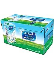 حليب المراعي كامل الدسم بغطاء لولبي مع فيتامين 12 ،عبوة سعة 1 لتر