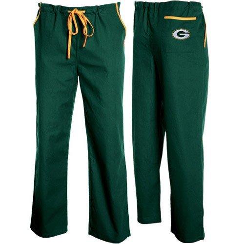 6cf7e8bf91c Green Bay Packers Green Basic Unisex Solid Scrub Pants (X-Large)