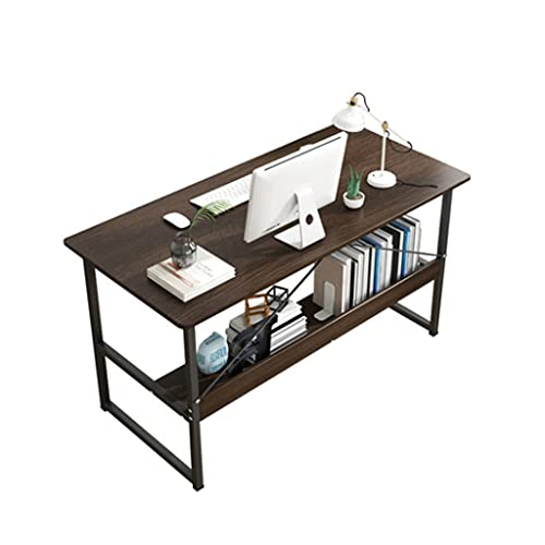 Desk Escritorio de la computadora de la Sala de Estudio Escritorio de Oficina en casa de 120 cm con Marco de Metal Negro,