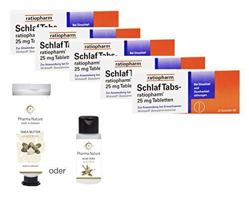Schlaftabs ratiopharm Sparset - 5x20 Tabletten - inkl. einer pflegenden Handcreme o. Duschbad von Pharma Nature (Apotheken-Express)