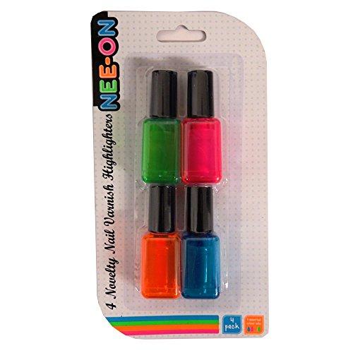 Highlighter-Stifte, Neonfarben, 4 Stück