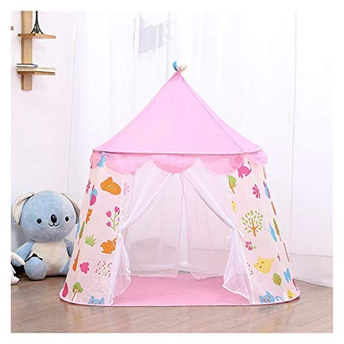 Srfghjs Children tent Kid Teepee Tent House for Game Room Kids Outdoor Game Summer Children's Tent Princess Castle Tent (Color : Pink)