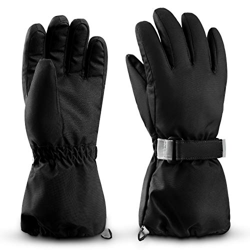 ThxToms Kids Winter Gloves, Ski & Snow Waterproof Gloves for Boys and Girls, Winter Warm Gloves for Cold Weather Outdoor Play