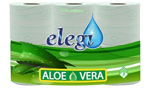 elegi. Papel HIGIENICO Aloe Vera 3 Capas. 42 Rollos.