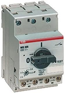 ABB MS325-16 MS Series Manual Motor Starter 16 Amp 690 Volt AC Operational 440 Volt DC Operational 12.5 - 16.0 Amp 3-Pole 3 Phase