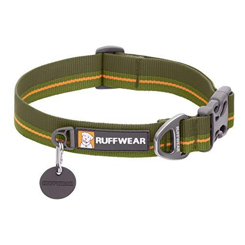 Ruffwear Flat Out Collar, Klassisches Hundehalsband für Mittelgroße Hunderassen, Einstellbare Passform, Größe M (36-51 cm), Forest Horizon