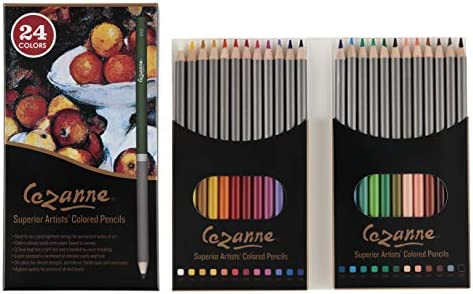 Cezanne Professional Colored Pencil Set of 24 Colors Artist Quality Soft Wax Core Leads for product image