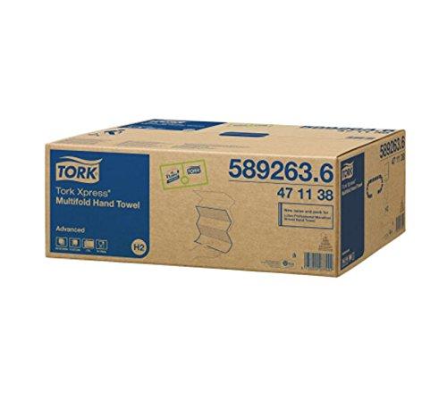 Tork Xpress - Dispensador de servilletas de papel plegadas en Z de 21,3cm. 20x 190unidades