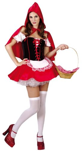 Party Pro 87286368 Chaperon Costume, Rouge
