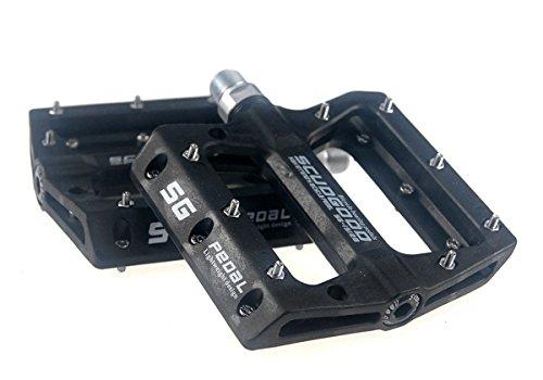 Mountainbike-Pedale, geringes Gewicht, 1 Paar, für AM / FR / DH / DJ / BMX, Schwarz