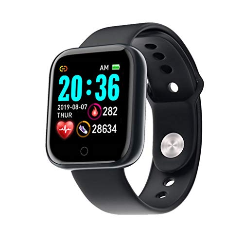 ZXQZ Relojes de Pulsera Relojes Inteligentes, Relojes Inteligentes con Pantalla Táctil De 1,3', Capacidad de La Batería de 130 MAh, Pulsera con Mensaje Bluetooth, para Hombre Y Mujer Watches