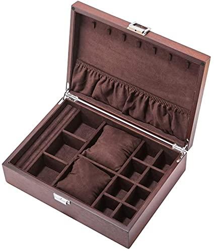 Watchbox Watch Box Organizer / Multifunción Reloj de madera Reloj de madera Caja de almacenamiento, gran capacidad, Multi-Grid, Lock Metal / MEJOR REGALO, A