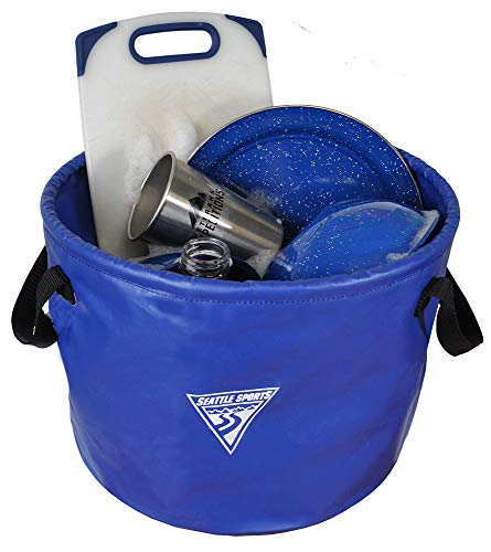 Seattle Sports Outfitter Class Collapsible Jumbo Camp Sink Wash Basin Bucket (Blue), One Size (032802)
