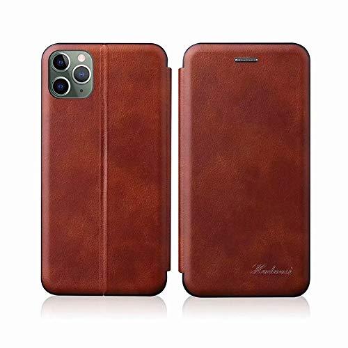 Xyamzhnn For Pro MAX Voltaje de TPU + PU Integrado Titular de la Tarjeta magnética del Cuero Retro del iPhone 11 (Color : Red)