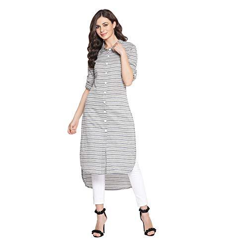Indian Virasat Multi Colored Cotton Striped Printed High-L