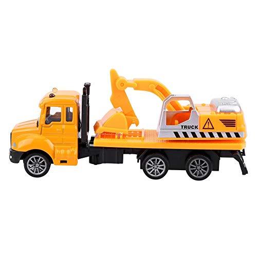 Dilwe Engineering Truck Spielzeug, 1/64 Scale Engineering Pull-Back Fahrzeug Simulation Modell Auto Spielzeug Geschenk für Kinder( Bagger)