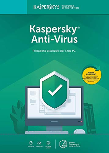Kaspersky Anti-Virus 2019 Software, 1 Device, 1-Year License, Boxed