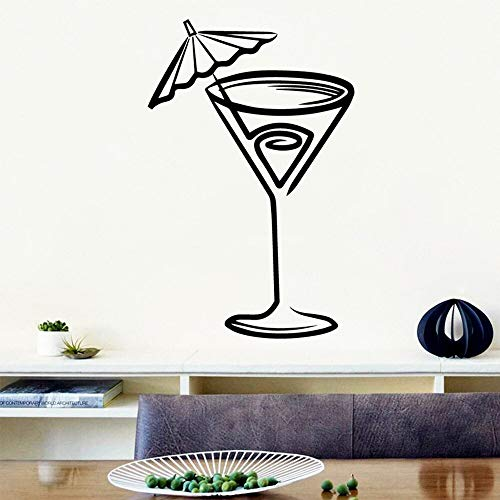 Quszpm Pegatinas de Pared de Bebida de Bricolaje decoración del hogar Pegatinas de Vinilo decoración de casa de Bricolaje 42 cm x 64 cm