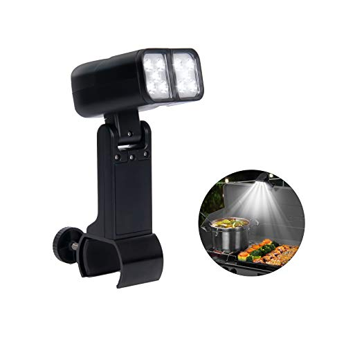RVZHI Grill Light for BBQ, Men Gifts for Fathers Day, Flexible Adjustable Angle Grilling Light for Night Outdoor Cooking, Super Bright LED Lighting Accessories for Gas/Electric Grill, Included Battery