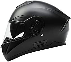Motorcycle Full Face Helmet DOT Approved - YEMA YM-831 Motorbike Moped Street Bike Racing Casco Moto Helmet with Bluetooth Space for Adult,Youth Men and Women - Matte Black,Medium