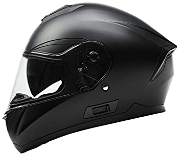 Motorcycle Full Face Helmet DOT Approved - YEMA YM-831 Motorbike Moped Street Bike Racing Casco Moto Helmet with Bluetooth Space for Adult,Youth Men and Women - Matte Black Large