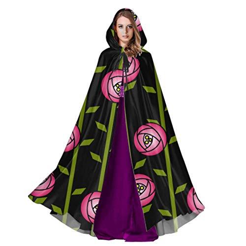 Rose Zusammenfassung Rosengarten Charles Rennie Mackintosh Frauen Cape Mantel Cape Mantel Mantel Für Frauen 59 Zoll Für Weihnachten Halloween Cosplay Kostüme