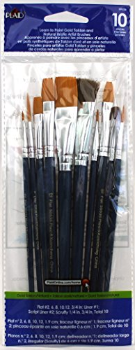 Plaid Learn to Paint Premium Brush Set, 50536 (10-Piece), 1-(Pack)