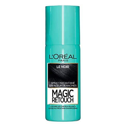 L'Oréal Paris Spray Instantané Correcteur de Racines & Cheveux Blancs, Magic Retouch, Noir, 75 ml