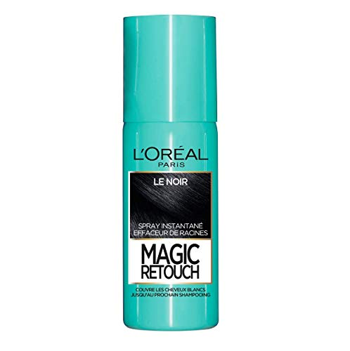 avis mascara grande surface professionnel L'Oréal Paris Instant Collection Spray, pour Racines et Cheveux Gris, Magic Retouch, Noir, 75 ml