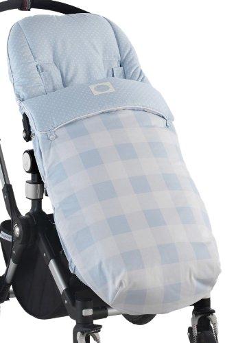 Cambrass Ocean - Saco de abrigo universal para silla de paseo, color celeste