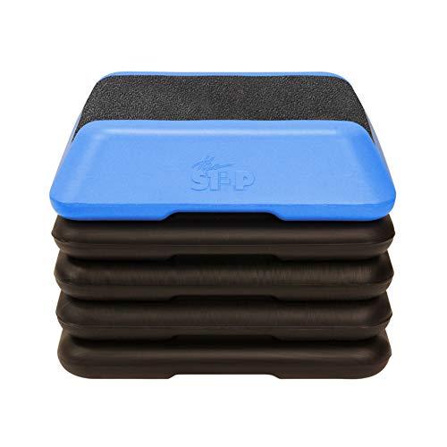 The Step High Step Aerobic Platform with High Step Grey Aerobic Platform and 4...