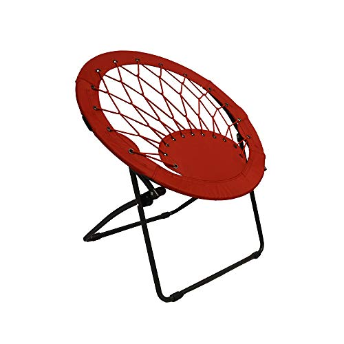 Impact Canopy 460060004 Portable Web Folding Bungee Chair, Red
