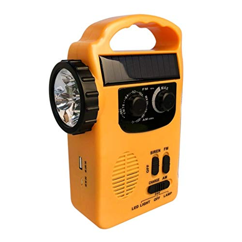 LF Stores Multifunctionele radio AM/FM Radios Outdoor noodhandslinger Solar Dynamo Power Bank met LED-lamp