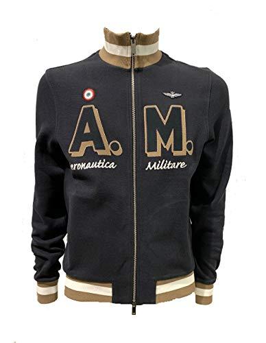 Aeronautica Militare FE1474 Sweat-shirt pour homme Bleu marine Taille XL