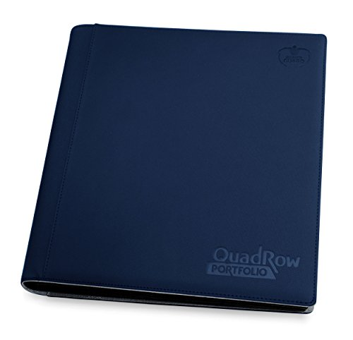 Ultimate Guard UGD010425 12-Pocket Quad Row Portfolio Xeno Skin, dunkelblau