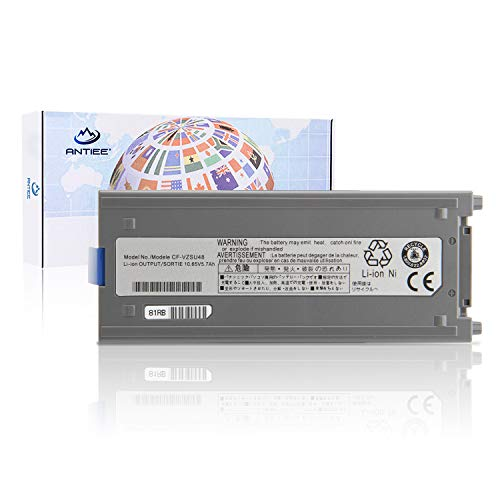 ANTIEE 10.65V 58Wh CF-VZSU48U Laptop Akku für Panasonic Toughbook CF-19 MK1/MK2/MK3/MK4/MK5/MK6/MK7/MK8 Rugged Mobile Notebook CF-VZSU48 CF-VZSU48R CF-VZSU58U CF-VZSU28 CF-VZSU50 Notebook Battery