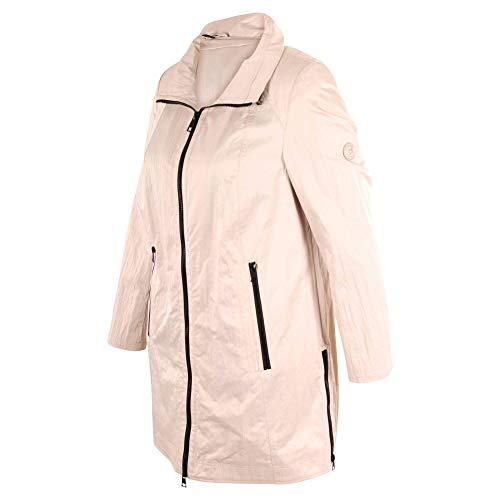 Barbara Lebek - beige jas met opstaande kraag