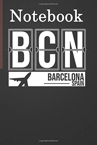 Composition Notebook, Journal Notebook: BCN - Barcelona Airport Code Souvenir or Gif 6'' x 9'', 100 Pages, Soft Cover, Matte Finish for Friends, Family Member, Anniversary, Lover Gifts