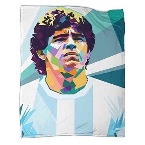 Xaviera Doherty Maradona's Rebellious Ball King's Legend Ends Limited (26) Sofadecke, 180 x 230 cm, weiche und bequeme Bettdecke, Kinderbettwäsche