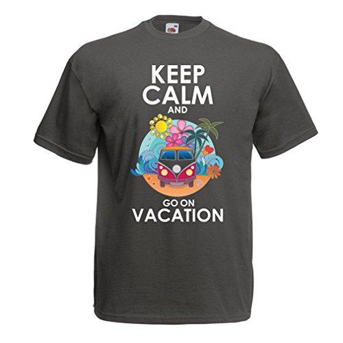Männer T-Shirt Gehen Sie auf Urlaub, Nette Outfits, Strandkleidung, Resortabnutzung (Small Graphit Mehrfarben)