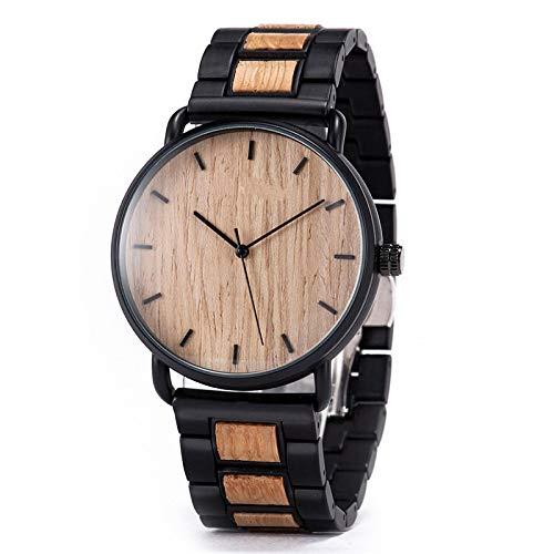 Reloj dePulsera de Cuarzo deMadera de Cebra paraHombre Reloj Masculino Simple Ultrafino GT023-3
