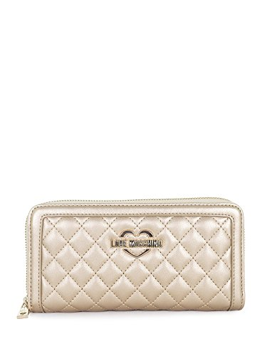 Love Moschino Metallic Quilted wallet gold