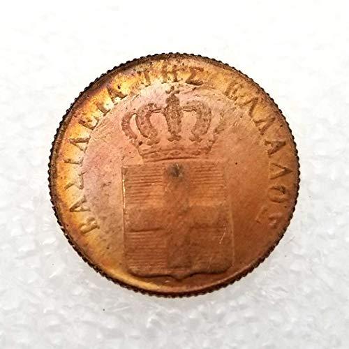 DDTing 1839 Griechenland Kingdom Unzirkulierte 1-LEPTON alte Münze - griechische Münze - Griechische Mythologie - Entdecken Sie Geschichte der Münzen goodService