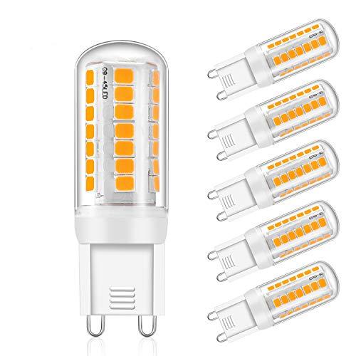 Eco.Luma G9lampadine LED dimmerabile, bianco caldo 2800K, 4W sostituzione 28W 33W lampadina alogena da 40W, 320LM, senza sfarfallio, AC 220-240V, angolo di diffusione: 360°, 5er Pack