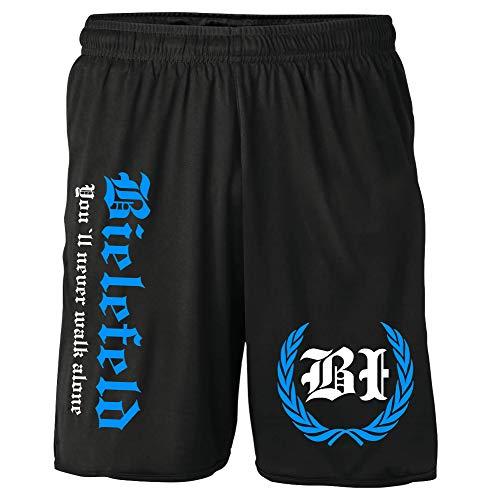 Bielefeld Kranz Shorts | Fussball Sport Ultras Kurze Hose Sporthose (XL, Bielefeld Kranz M2)