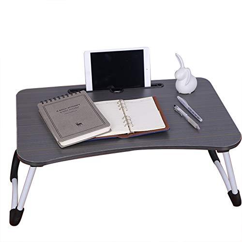Klappbarer Laptop-Schreibtisch (schwarz), faltbarer Laptop-Tisch, tragbarer Stehpult, Frühstücks-Servieren, Bett-Tablett, Notebook-Computer-Ständer, Leseständer für Couchboden