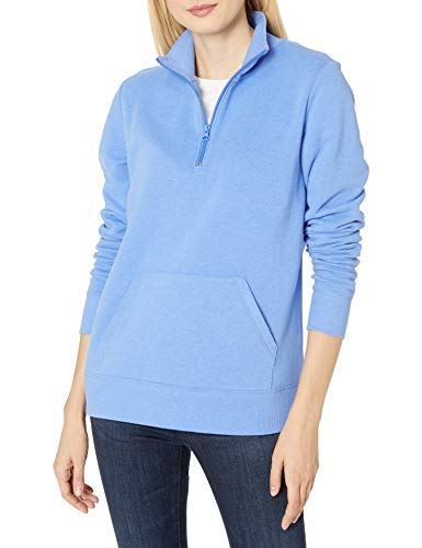 Amazon Essentials Long-Sleeve Lightweight French Terry Fleece Quarter-Zip Top - Fleece-Outerwear-Jackets Mujer