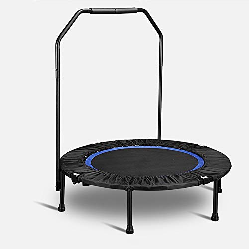 BUSUANZI Fitness Trampoline For Adult Foldable Rebounder Jumper Safe And Durable With Adjustable Handrail For Indoor Outdoor Exercise Jumper