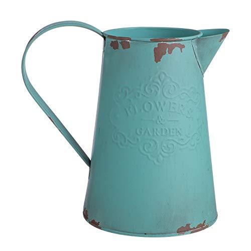 BESPORTBLE Vaso da fiori in stile shabby americano vintage, annaffiatoio rustico, in ferro shabby chic, decorazione per balcone, scrivania, soggiorno, decorazione da tavolo
